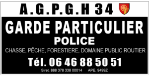 Garde particulier pour association de l'Hérault